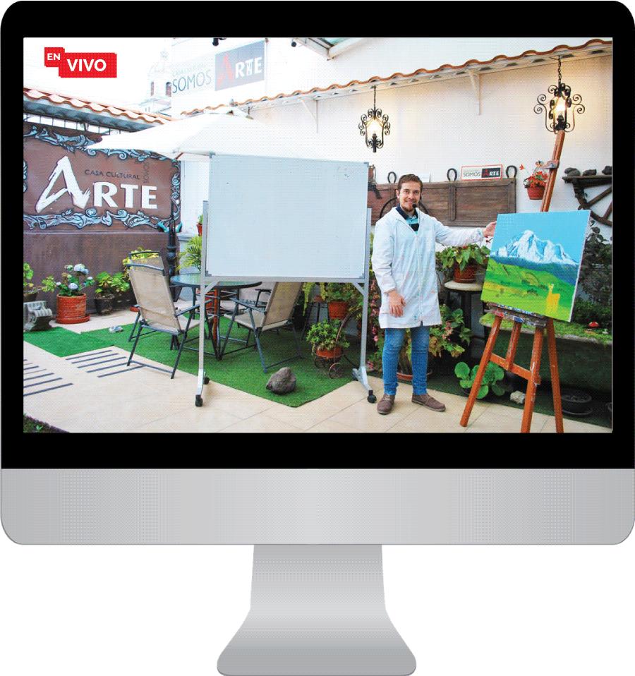 clases de pintura en vivo