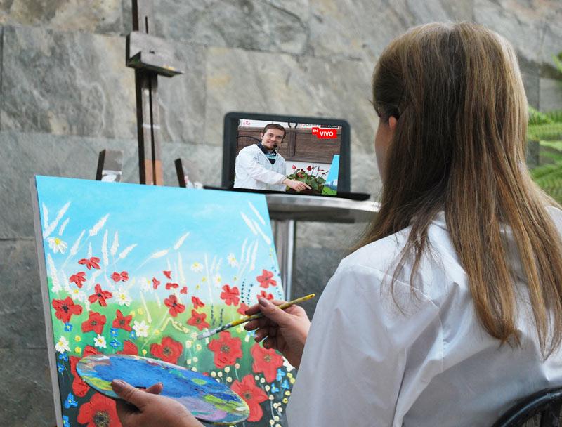 clases de pintura online en vivo